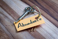 Secret key for abundance in life Royalty Free Stock Photo