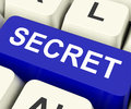Secret key means confidential or discreet on keyboard meaning undisclosed Royalty Free Stock Photography
