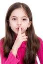 Secret silence Stock Images