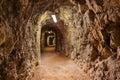 Secret tunnel in Castle Kufstein - Austria Royalty Free Stock Photo