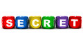Secret word on white concept of secrecy and confidentiality Stock Image