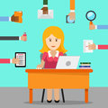 Secretary. Busy woman for office work Royalty Free Stock Photo