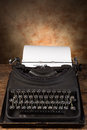Secretary day dusty old antique typewriter with typed on a page Royalty Free Stock Photo