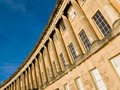 Section georgian masterpiece royal crescent bath somerset england uk Royalty Free Stock Photo
