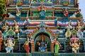 A section of the Naga Pooshani Ambal Kovil on Nainativu Island in the Jaffna region of Sri Lanka. Royalty Free Stock Photo