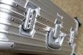 Secure bag lock, close up Stock Photos