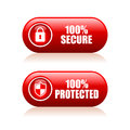 100 secure button Royalty Free Stock Photo