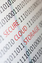 Secure cloud storage Royalty Free Stock Photography