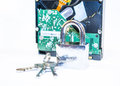 Secure data hdd with keys lock security concept Royalty Free Stock Images