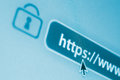 Secure encrypted internet - https Stock Photography