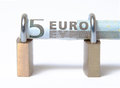 Secure Euro Bill Royalty Free Stock Photos