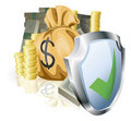 Secure money concept Royalty Free Stock Photography