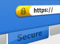 Secure online ebanking browser address bar showing connection Royalty Free Stock Photo