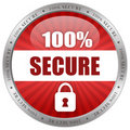 Secure shiny icon Royalty Free Stock Photos