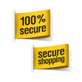 Secure shopping labels illustration Stock Photo