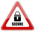 Secure sign Stock Images