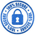 Secure stamp Royalty Free Stock Images