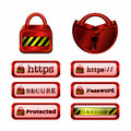 Secure Web Button Collection Royalty Free Stock Photo