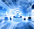 Secure wireless network devices Royalty Free Stock Photo