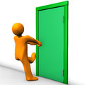 Secured Door Royalty Free Stock Images