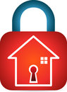 Secured home a vector drawing represents design Royalty Free Stock Photos