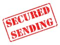 Secured Sending -  Red Rubber Stamp. Stock Images