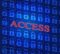 Security Access Represents Login Accessible And Unauthorized Royalty Free Stock Photo