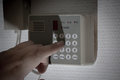 Security alarm hacker Royalty Free Stock Photo