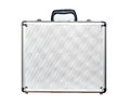Security aluminum case for money on white background Stock Photo