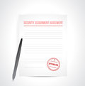 Security assignment agreement illustration design over white Stock Photography