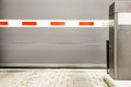 Security barrier garage Stock Photo