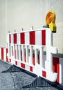 Security barrier modern at a construction site Royalty Free Stock Image