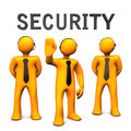 Security bodyguard team Stock Image