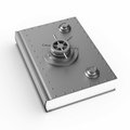 Security book on white background. Isolated 3D illustration