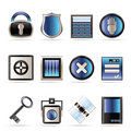 Security and Business icons Royalty Free Stock Photography