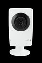 Security camera on black background Royalty Free Stock Images