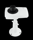 Security camera on black background Royalty Free Stock Photography