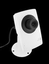 Security camera on black background Stock Images
