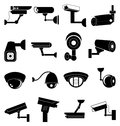 Security camera icons set Royalty Free Stock Photo
