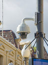 Security camera an image of street Royalty Free Stock Photography