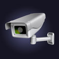 Security camera modern cctv infrared Stock Image