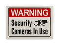 Security Camera Sign Royalty Free Stock Photo