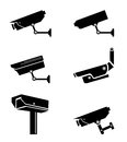 Security camera surveillance camera isolated white background Stock Photography