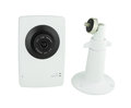 Security camera on white background Royalty Free Stock Photo