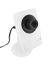 Security camera on white background Stock Photos