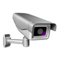 Security camera on a white background d render Royalty Free Stock Images