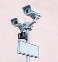 Security CCTV cameras Royalty Free Stock Image
