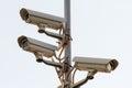Security cctv cameras Royalty Free Stock Photo