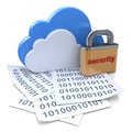 Security for cloud computing in the design of information related to internet Stock Image
