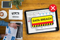 Security computer Data Breach Security Confidential Cybercrime Royalty Free Stock Photo